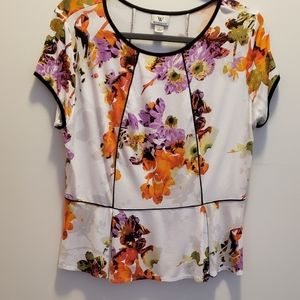 Worthington peplum sz L top